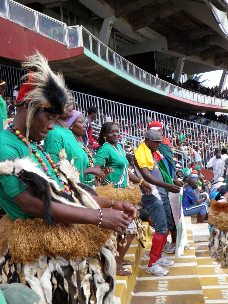Traditional dancers at the Lions game
